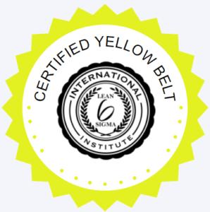 LSSI Yellow Belt badge