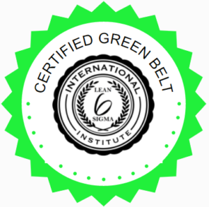 LSS Lean Six Sigma Green Belt badge