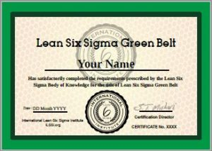 ILSSI International Lean Six Sigma Green Belt