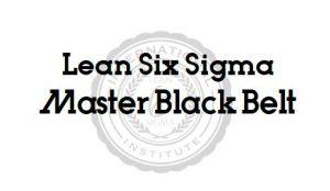 Lean Six Sigma Master Black Belt Accredited