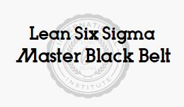 Lean Six Sigma Master Black Belt Accredited