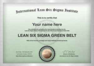ILSSI International Lean Six Sigma Green Belt Certification Accredited