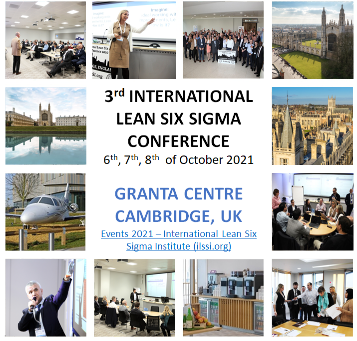 ILSSI Lean Six Sigma Conference Cambridge 2021