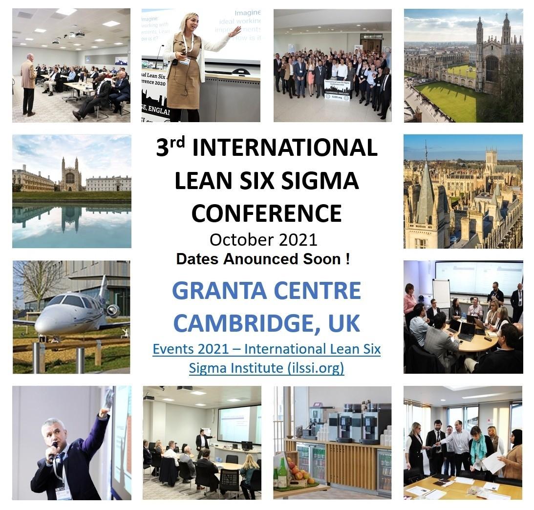 ILSSI Conference 2021 Cambridge Lean Six Sigma